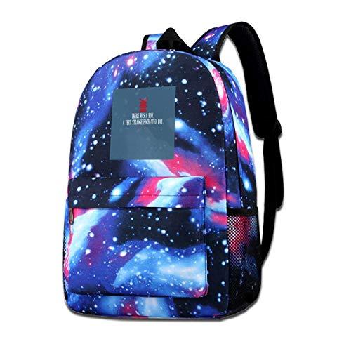 Warm-Breeze Galaxy Printed Shoulders Bag Moulin Rouge Eröffnungslinien Mode Casual Star Sky Rucksack für Jungen & Mädchen