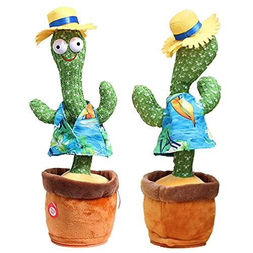 Cactus knuffels, zingen en dansen Cactus elektronisch speelgoed, herhaal wat u zegt, grappige mooie muziekpoppen, ingebouwde vele liedjes