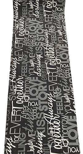 Tappeto cucina grigio nero scritte love antiscivolo life design living (cm 50 x 300)