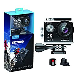 top rated AKASO EK7000 4K WiFi Sports Action Camera Waterproof Ultra HDD V Camcorder 12MP Width 170 degrees… 2021