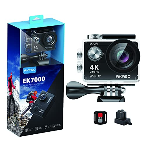 AKASO EK7000 4K30FPS Action Camera Ultra HD Underwater Camera 170 Degree Wide Angle 98FT Waterproof Camera