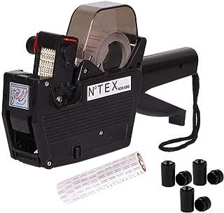 Price Gun Label High Definition Single Row Marking Machine, 8 Bit Marking Machine, Warehouse Supermarket, for Free 10 Rolls of Label Paper and 3 Ink Cartridges (Black)