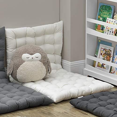 [en.casa] Cuscino da Pavimento per Meditazione/Lettura/Relax 120 x 60 cm Cuscino da Terra per Sedersi/Sdraiarsi - Imbottito e Trapuntato - Uso Interno - Beige