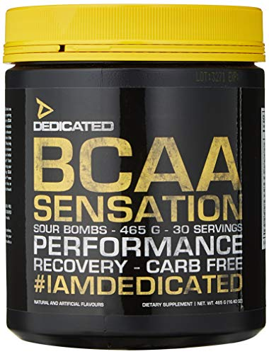 Dedicated Nutrition BCAA Sensation V.2 Supplement, 465 g, Sour Bombs