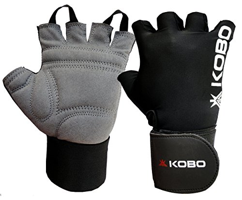 Kobo WTG-09 Gym Gloves with Wrist Support, Medium (Black)