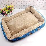 Giow Kennel Pet Nest Teddy Poodle Cama para Perros Perro pequeño Cachorro de Invierno Suministros para perros58 * 40Cmblue
