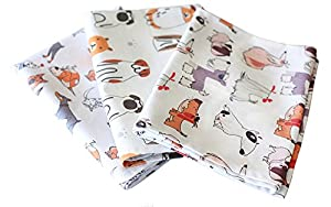 Tea towel set with many dogs