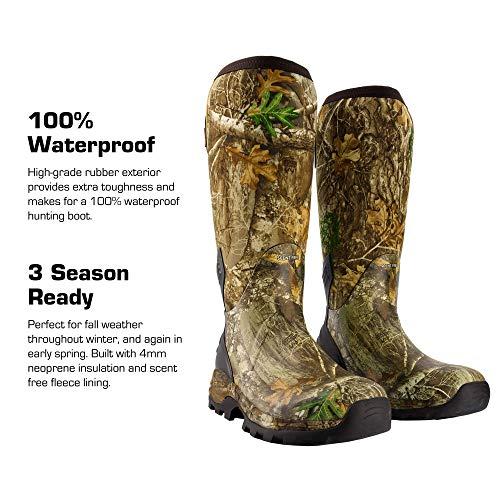 HUNTSHIELD Men's Neoprene Muck Boot | Insulated Waterproof Rubber Hunting Boot | Size 11 Camouflage