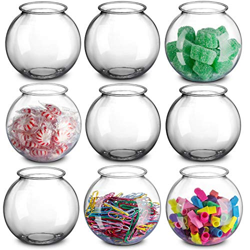 16 Ounces Clear Ivy Bowls Heavy Duty Plastic - Pack Of 12, Great For Fishbowl, Carnival Games, And For Party's