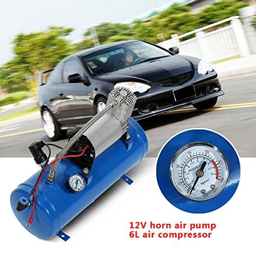 BH-Motor Compresseur d'air 12 V 6 litres 150 psi pour Voitures et camions