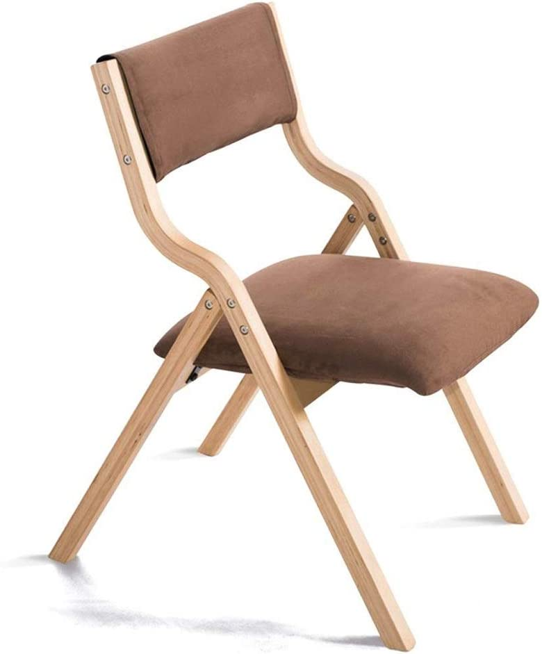 FUJGYLGL Albuquerque Mall Dining Chairs Chair Solid Manufacturer direct delivery Folding Simple Wood and