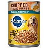 PEDIGREE Adult Canned Wet Dog Food Chopped Ground Dinner Chicken & Rice Dinner Flavor, (12) 13.2 oz. Cans