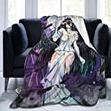 TUCBOA Blankets,Albedo Overlord Sexy Anime Girl Mantas De Franela Unisex, Manta De Cama Duradera para La Sala De Estar del Hogar,100x125cm