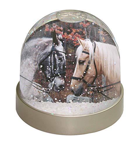 Advanta Schneekugel mit Pferden in Love, Mehrfarbig, 9,2 x 9,2 x 8 cm