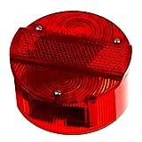 MZA Rücklichtkappe rund, rot, Ø120mm ohne KZB - Simson S50, S51, S70, S53, S83, KR51/2 Schwalbe, SR50, SR80