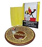 CASANOVA Carta d'Eritrea Biologica 60 Listelli con piattino Dipinto a Mano Artigianale, Ca...