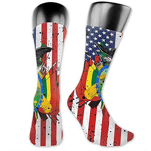 Wappen von Bolivien Amerikanische Flagge Unisex The-Calf Socken Crew Socken Lustige Socke