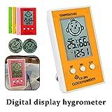 Digital Thermometer Hygrometer LCD Uhr Wetterstation Temperatur Hygrometer mit einem Lächeln/unglücklichen emotionalen Symbol, kann sofort abgelesen werden