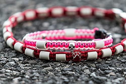 Pfoetchen-Welt Maßanfertigung! Schmuckhalsband für Hunde. Jetzt auch mit Namen. EM Keramik Halsband, Effekitve Mikroorganismen Produktbeschreibung beachten! Infotelefon 015208926890