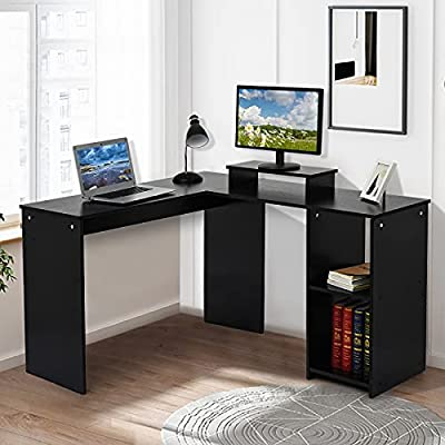 Amazon - Save 60%: L-Shaped Large Computer Desk,?Shipping from US? Home Office Desk Laptop…