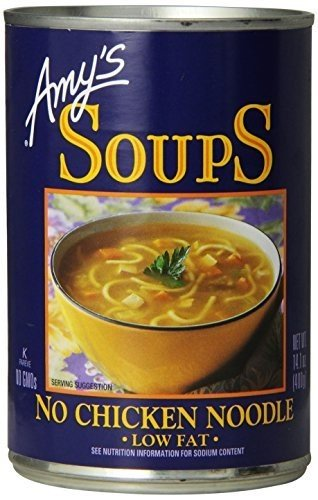 Amy's Kitchen Low Fat No Chicken Noodle Soup 141 Oz (Pack of 12) - Gluten Free