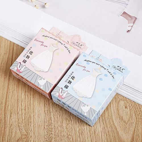 Santé et beauté 25 boîte de vendre des garnitures minces faciales molles jetables de coton de souffle jetables, emballage de carton Houppette