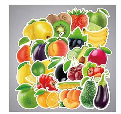 votgl Stickers 25 Stks/partij Prachtige Cartoon Verse Fruit en Groenten Stickers Voor Keuken Bakkerij Cup Schaal Koelkast Kinderen Onderwijs Speelgoed