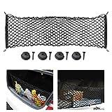 Laelr Kofferraum Aufbewahrungsnetz, Flexible Cargo Organizer Net Elastische String Mesh für Kinder Gepäck SUV LKW Bett oder Kofferraum (40 cm * 90 cm)