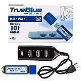 Consolas True Blue Mini-Meth Pack 58/101 Juegos 2-Players (32/64 GB) Plug and Play Plug-in para...