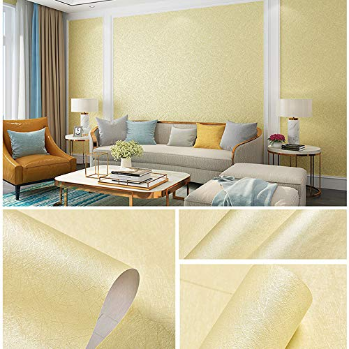 11 Yards Faux Beige Grasscloth Linen Wallpaper Peel and Stick Removable Simple Natural Embossed Textured Paper Self Adhesive Room Wall Decoration,32.8 Ft X 17.9 inch
