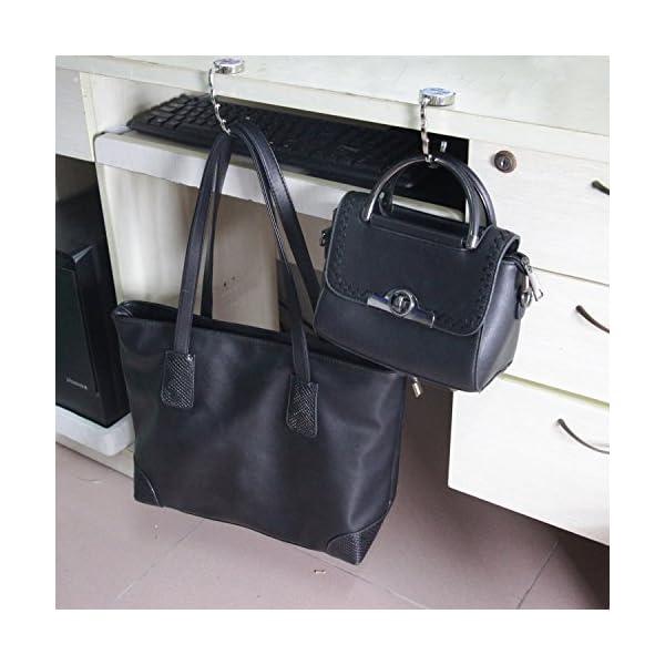 BEAVO Set of 6 Mixed Pattern Foldable Womens Bag Purse Hook Handbag Hanger Holder