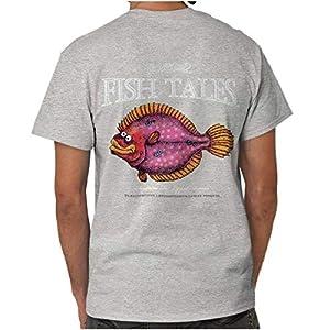 Fishing Gill McFinn 's Sargassan Fat - Lipped Flounder Fish Printed T-Shirt X-Large Sargassan Fat
