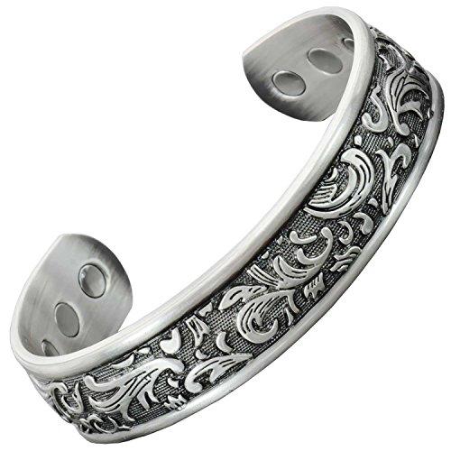Holistic Magnets® Magnetisches Armband Damen Kupfer Armband (Anlauffarbenfrei) Originelle Geschenkideen für Frauen Handgelenk Gelenkheilung Armband...