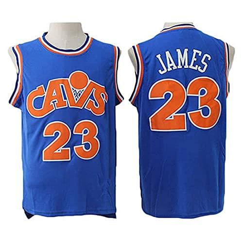 XSJY Jersey Men's NBA Cavaliers # 23 Lebron James Fresh Tela Transpirable Bordado Jerseys Retro, Unisex Baloncesto Fan Uniforme,D,S:165~170cm/50~65kg