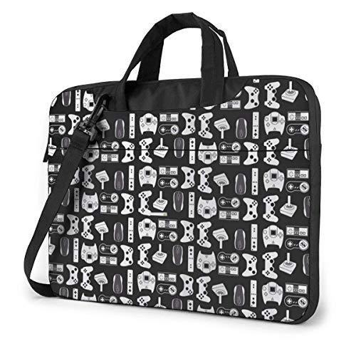 Black Video Game Weapon Funny Gamer Laptop Sleeve Case Computer Tote Bag Shoulder Messenger Briefcase For Business Travel