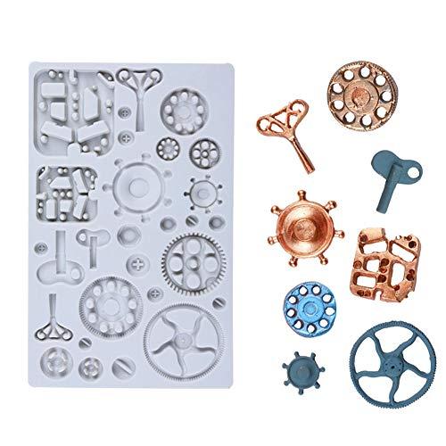 Swakom Reloj Steampunk y Engranajes de la Rueda del Reloj Paso Molde de Silicona Engranajes de la Rueda del Reloj Molde de Silicona Molde de Caramelo de Chocolate para decoración y Regalo