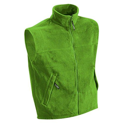 James & Nicholson Wärmende Weste in schwerer Fleece-Qualität (S, lime-green)