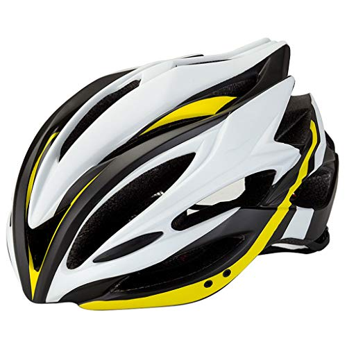 LXXTI Fiets Helm, Verstelbare Fiets Helm Specialized Fietshelm voor Volwassen Mannen Vrouwen Road en Mountainbike Helm Verstelbare Hoofdband, Geel