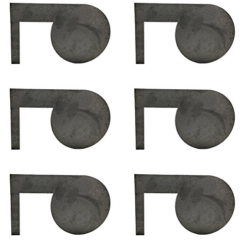 (6) Titan AR500 Dueling Tree Steel Target 6' x 3/8' Swing Paddles DIY Shooting