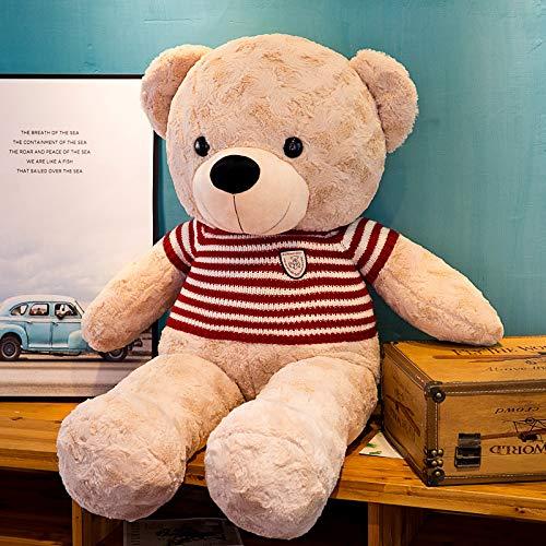 ahzha Große Fliege Umarmung Bär, Plüsch Teddybär Puppe, Mädchen Geburtstag Urlaub Geschenk, Gute Schule Geschenk 180cm Teddy Rotes Licht