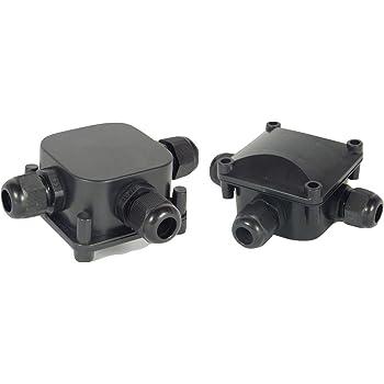 TPBox 2 piezas Caja de conexiones IP68 Conectores de cable a ...