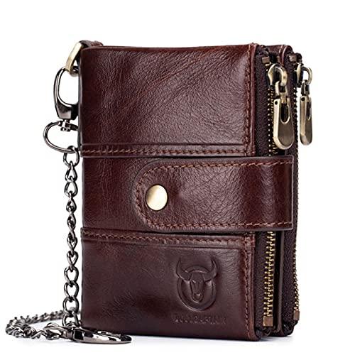 Anno short wallet anti-theft brush zipper wallet