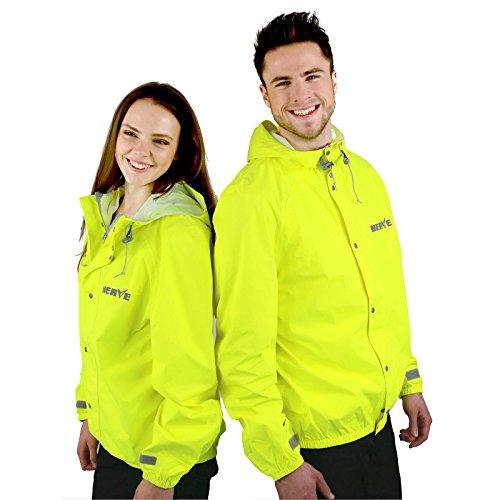 NerveShop Dünne Leichte -Amazon- Regenjacke Herren Jungen Faltbar Ungefüttert Ultraleicht Wasserdicht Atmungsaktiv Regenbekleidung - gelb - XL