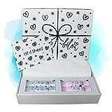 Neu Bilou Silver Sparkle Geschenkbox 2018 - Mit Großen Handtuch in Weiß, 2x Cremeschaum, 2x Duschschaum