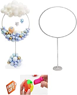 1 Set Balloon Column Arch Kit, Round Shape Balloon Stand Holder Centerpieces for Birthday Wedding Baby Shower Chisrtmas Ba...