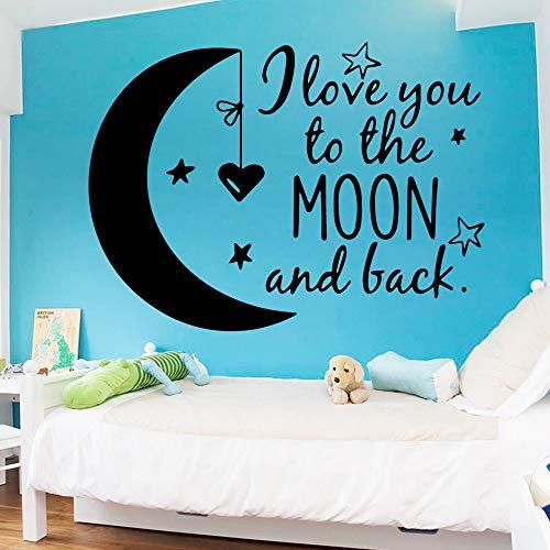stickers muraux disney Citations de lune personnalisés pour chambre enfants chambre décor