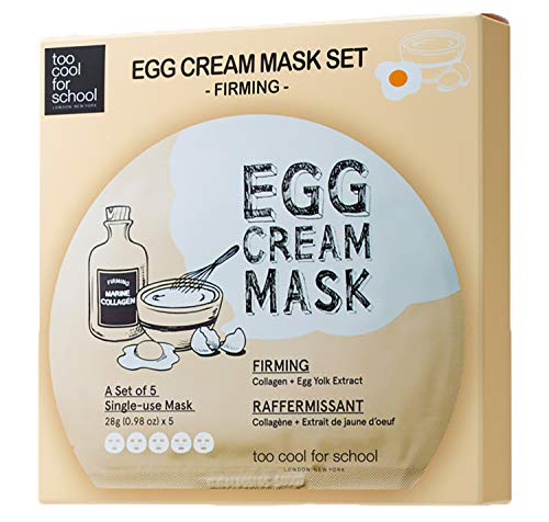 Too Cool for School - Egg Cream Mask Set - Firming - 5 Sheets