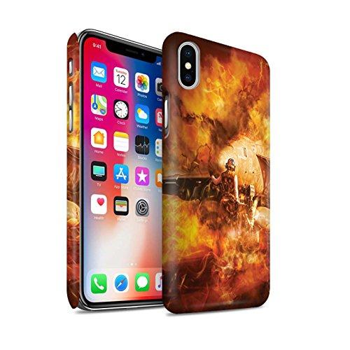 Matt Handy Hülle kompatibel mit Apple iPhone XS Krieg Schlacht Video Spielen Kunst Super Hornet Düsenjäger Matte Hart Schutzhülle Hülle Cover