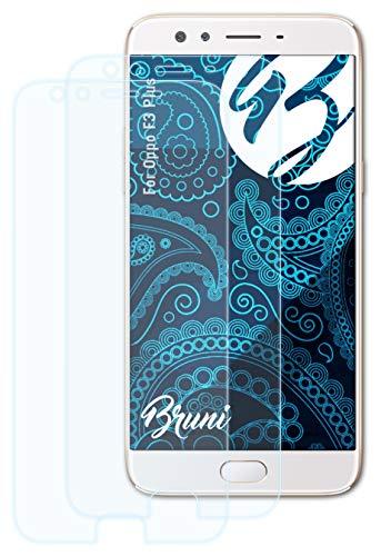 Bruni Schutzfolie kompatibel mit Oppo F3 Plus Folie, glasklare Bildschirmschutzfolie (2X)