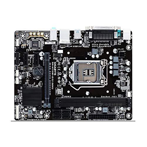 RKRLJX Placa Madre Placa Base De La Computadora Fit For GIGABYTE H110M-DS2 DDR3 Placa Base H110M-DS2 Slot LGA 1151 DDR3 USB3.0 SATA3 PCI-E3.0